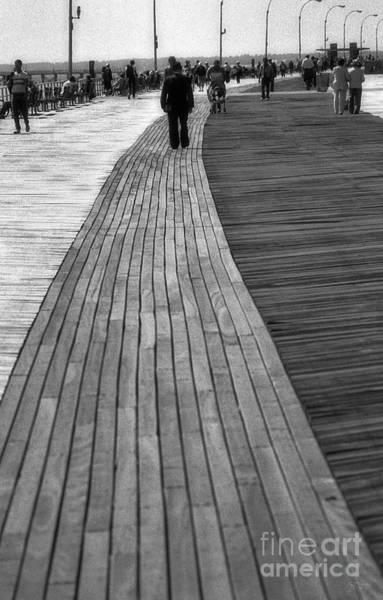 Photograph - Coney Island Boardwalk by Jeff Breiman