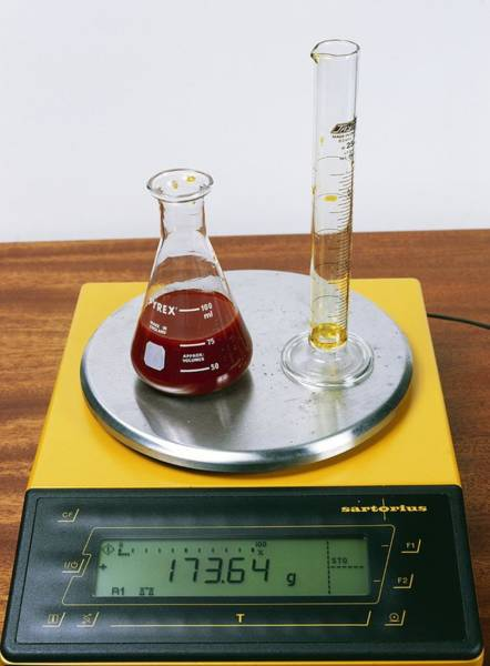 Wall Art - Photograph - Conservation Of Mass Experiment by Andrew Lambert Photography/science Photo Library
