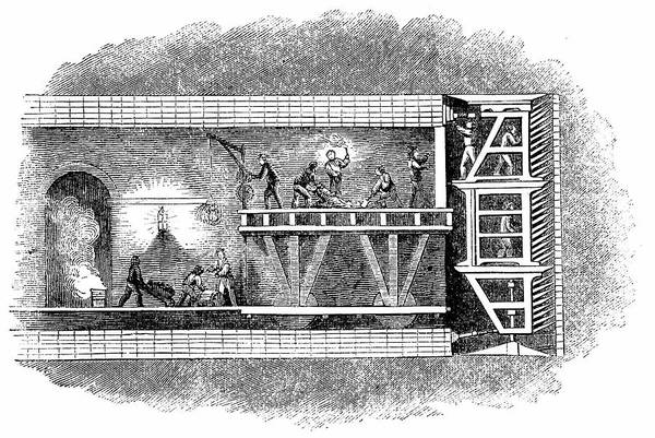Cross Section Photograph - Construction Of Thames Tunnel by Universal History Archive/uig