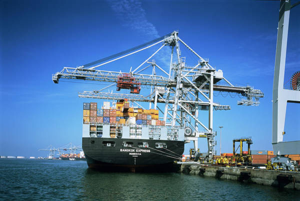 Wall Art - Photograph - Container Ship by Alex Bartel/science Photo Library
