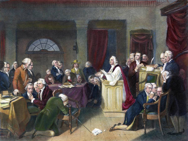 Wall Art - Painting - Continental Congress by Granger