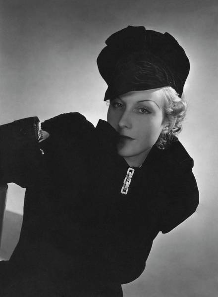 Cora Hemmet Wearing Reboux And Boucheron Art Print by Horst P. Horst