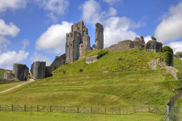 Fortification Photograph - Corfe Castle by Joana Kruse