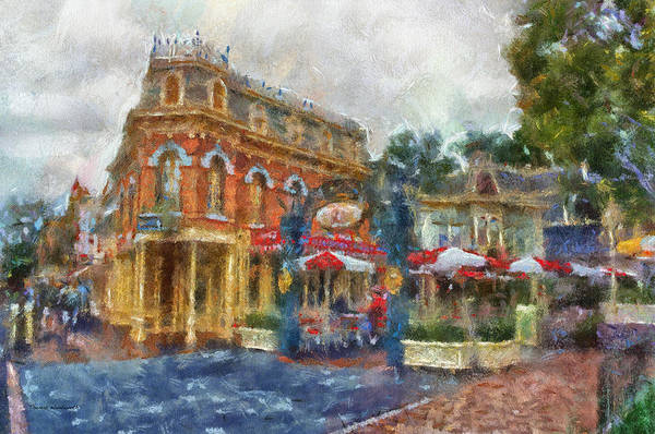 Clothier Photograph - Corner Cafe Main Street Disneyland Photo Art 02 by Thomas Woolworth