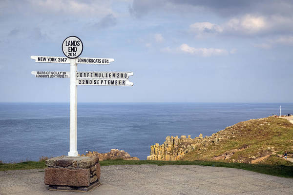 Cornwall Photograph - Cornwall - Land's End by Joana Kruse