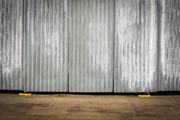 Steel Construction Wall Art - Photograph - Corrugated Metal by Tom Gowanlock