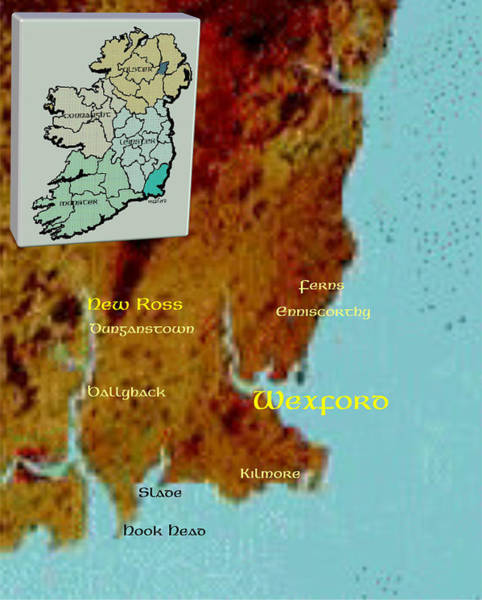 Digital Art - Wexford  Places by Val Byrne