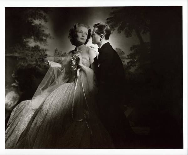 Love Photograph - Couple Wearing Evening Wear by Horst P. Horst