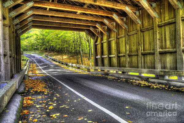 Wall Art - Photograph - Covered Bridge On Pierce Stocking Scenic Drive by Twenty Two North Photography