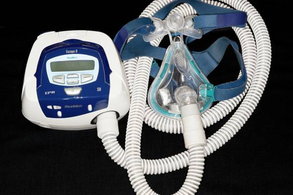 Sleep Disorder Photograph - Cpap Machine For Sleep Apnoea by Dr P. Marazzi/science Photo Library