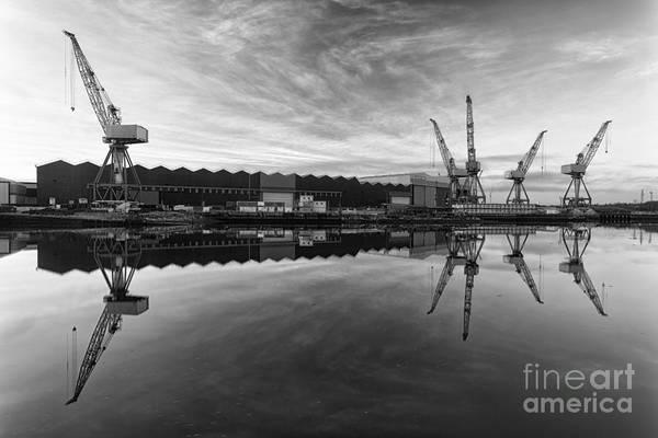 The Crane Photograph - Cranes On The Clyde  by John Farnan