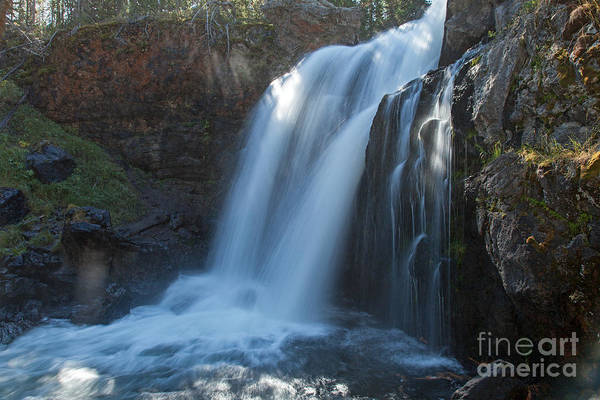 Photograph - Crawfish Creek Falls On Crawfish Creek In Yellowstone National Park by Fred Stearns