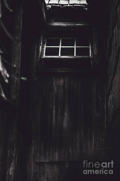Chilling Photograph - Creepy Open Horror Window In The Dark Shadows by Jorgo Photography - Wall Art Gallery