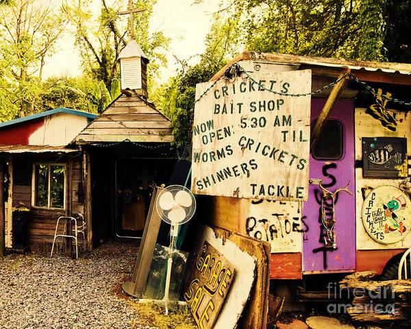 Wall Art - Photograph - Cricket's Bait Shop by Scott Pellegrin