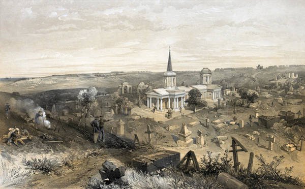 Wall Art - Painting - Crimean War Cemetery by Granger