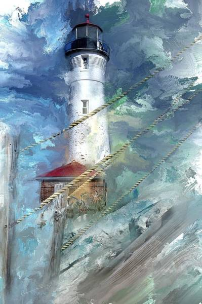 Crisp Point Lighthouse Michigan Art Print