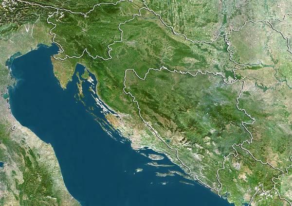 Balkan Peninsula Photograph - Croatia by Planetobserver/science Photo Library
