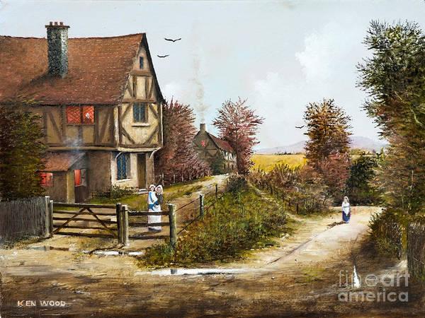 Painting - Cropthorne - Worcester by Ken Wood