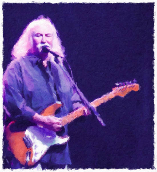 Photograph - Crosby On Guitar by Alice Gipson