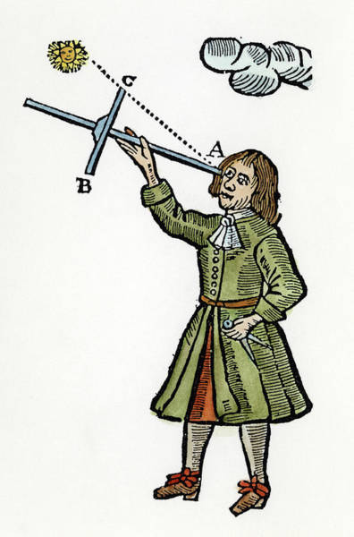 Painting - Cross-staff, 1669 by Granger