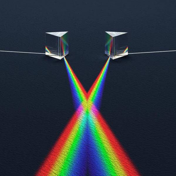Wavelength Photograph - Crossed Prisms With Spectra by David Parker