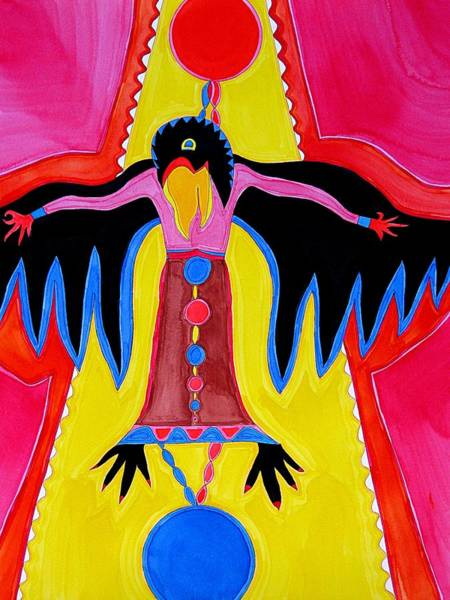 Painting - Crow Medicine Original Painting Sold by Sol Luckman