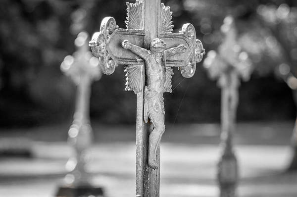 Photograph - Crucifix At St. Joseph Abbey by Andy Crawford
