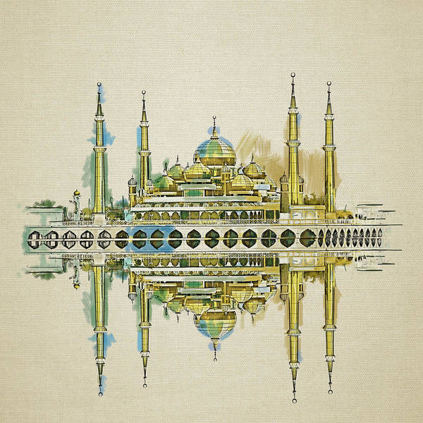 Wall Art - Painting - Crystal Mosque by Corporate Art Task Force