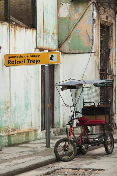 Boxing Photograph - Cuba, Havana, Havana Vieja, Pedal Taxi by Walter Bibikow