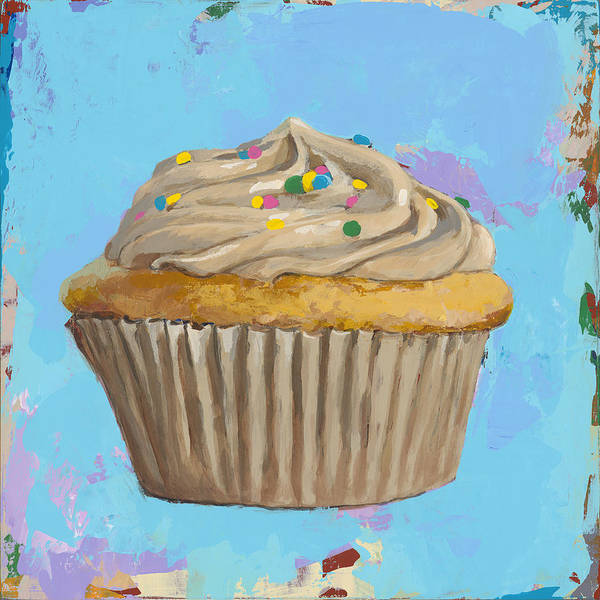 Desserts Wall Art - Painting - Cupcake #1 by David Palmer