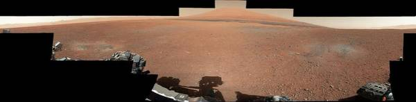 Wall Art - Photograph - Curiosity Rover's Landing Site by Nasa/jpl-caltech/msss/science Photo Library