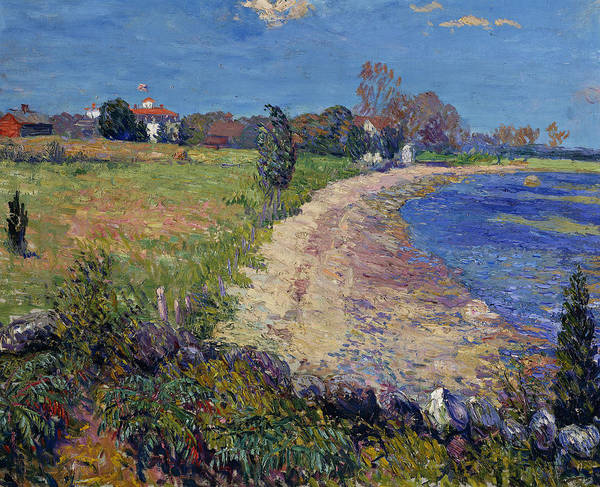 Boundaries Wall Art - Painting - Curving Beach by William James Glackens