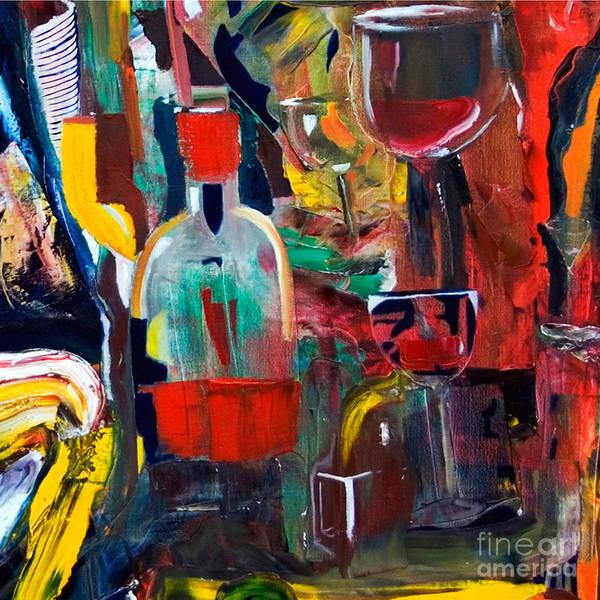 Cut IIi Wine Woman And Music Art Print