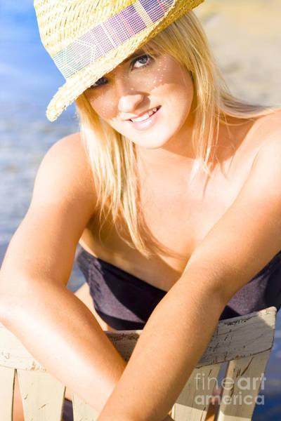 Humid Photograph - Cute Beach Babe by Jorgo Photography - Wall Art Gallery