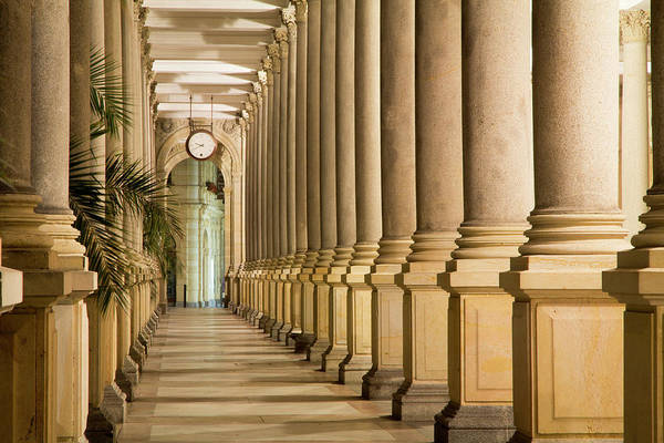 Colonnade Photograph - Czech Republic, Karlovy Vary by Emily Wilson