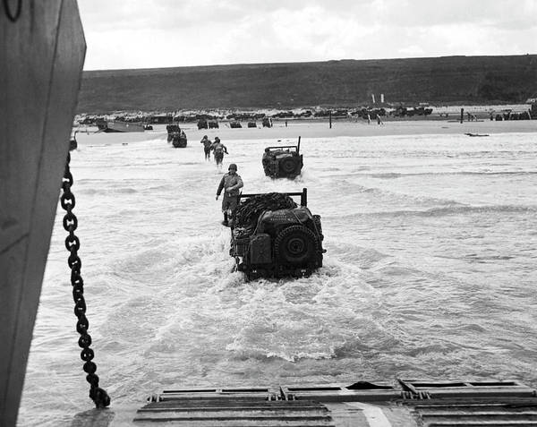 Photograph - D-day Invasion by Underwood Archives
