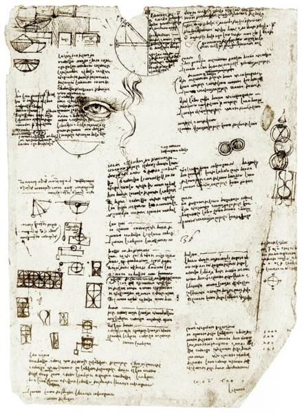 Wall Art - Photograph - Da Vinci's Notebook by Library Of Congress