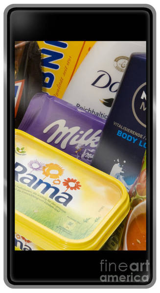 Photograph - Daily Products Posed On A Smart Phone Screen by Urft Valley Art