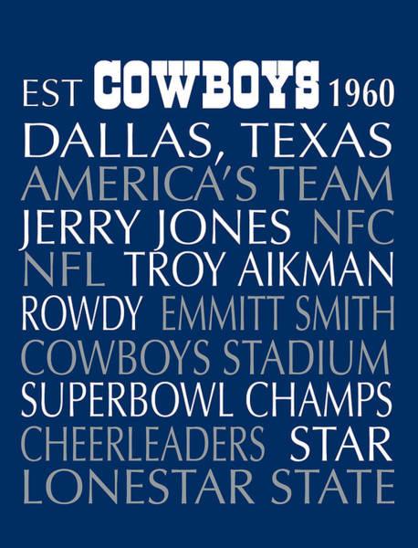 Cheerleaders Digital Art - Dallas Cowboys by Jaime Friedman