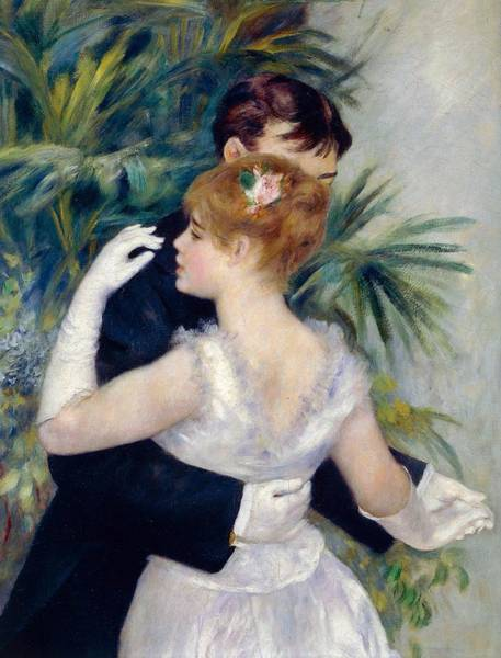 Current Wall Art - Painting - Dance In The City by Pierre-Auguste Renoir