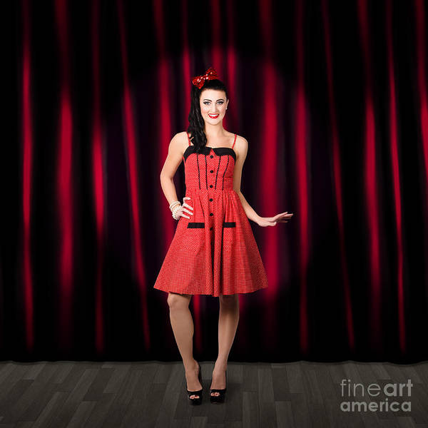 Showgirl Photograph - Dancing Woman Wearing Retro Rockabilly Dress  by Jorgo Photography - Wall Art Gallery