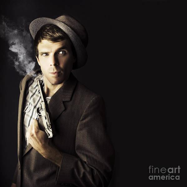 Photograph - Dangerous Business Man Holding Gun by Jorgo Photography - Wall Art Gallery