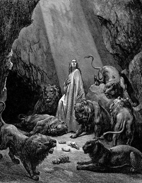 Painting - Daniel In The Den Of Lions by Celestial Images