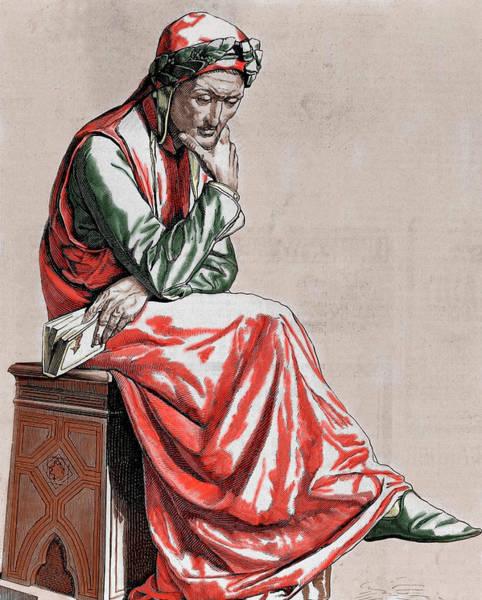 Laurel Photograph - Dante Alighieri (1265-1321 by Prisma Archivo