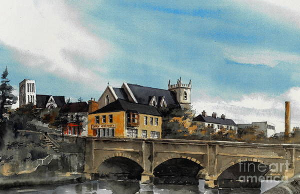 Mixed Media - Dargle Bridge Bray  Wicklow by Val Byrne
