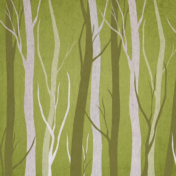 Green Tree Wall Art - Digital Art - Dark Forest by Aged Pixel