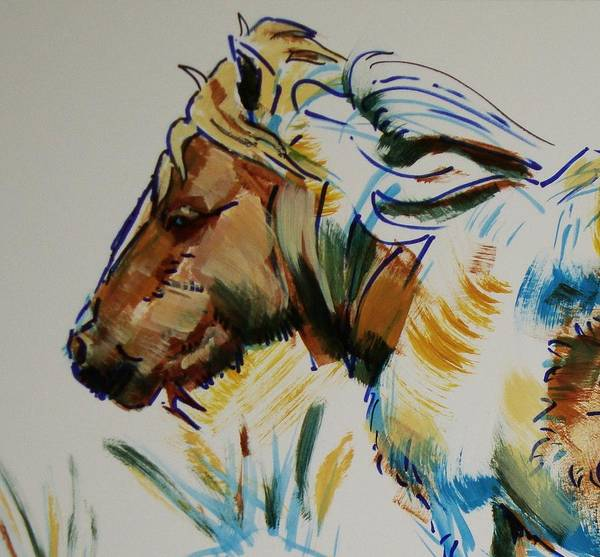 Painting - Dartmoor Pony by Mike Jory