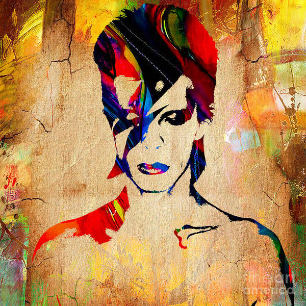 Wall Art - Mixed Media - David Bowie Collection by Marvin Blaine