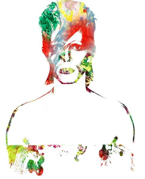 Photograph - David Bowie - Watercolor by Doc Braham