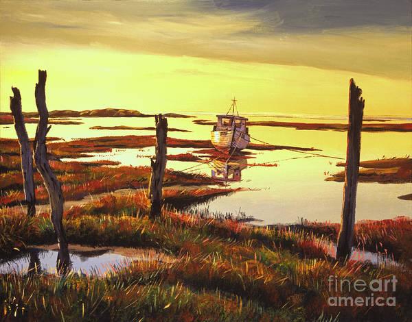 Painting - Dawn At Saltmarsh by David Lloyd Glover